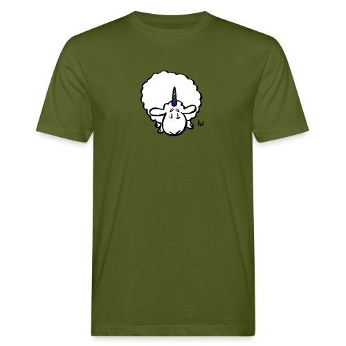 Ewenicorn - it's a rainbow unicorn sheep! - Mannen Bio-T-shirt