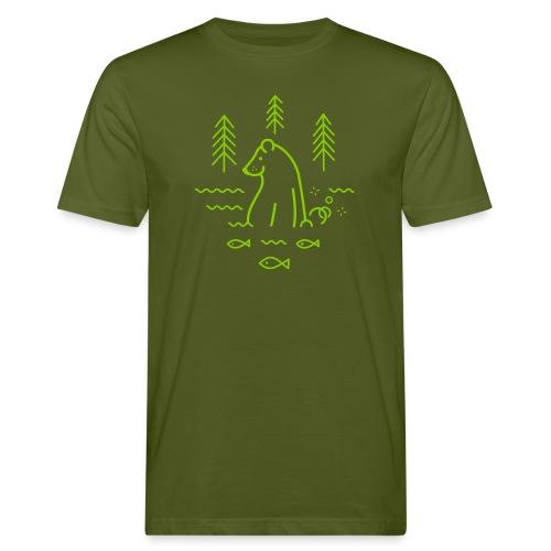 ours qui péte dans l'eau - T-shirt bio Homme