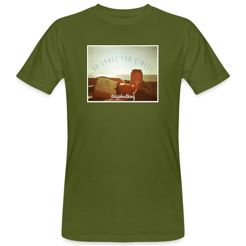 No Space For Stress - Men's Organic T-Shirt