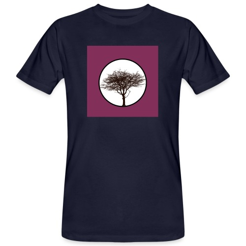 Baum in Kreis - Männer Bio-T-Shirt