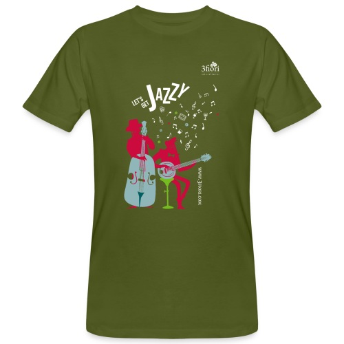 3Jazzy Blumen - Männer Bio-T-Shirt