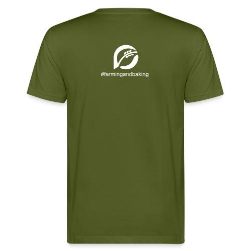 farningandbaking onlywhite - Männer Bio-T-Shirt