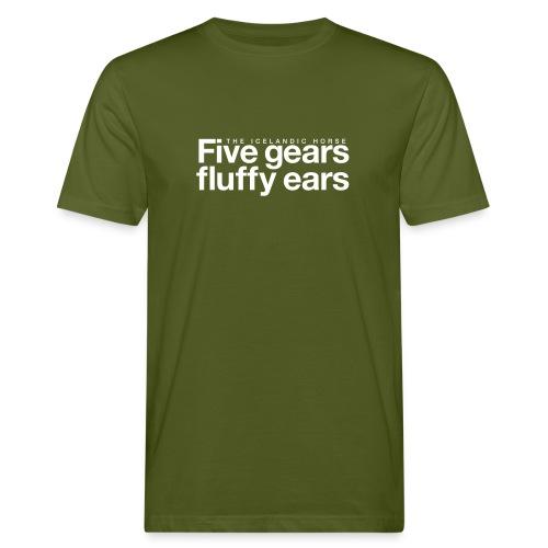 Five gears fluffy ears - Økologisk T-skjorte for menn