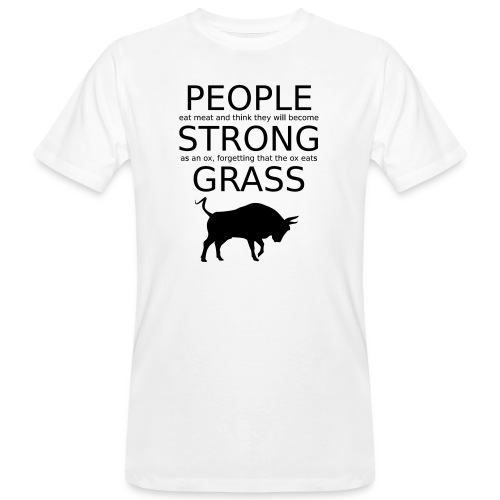 Strong People are Vegan - Männer Bio-T-Shirt