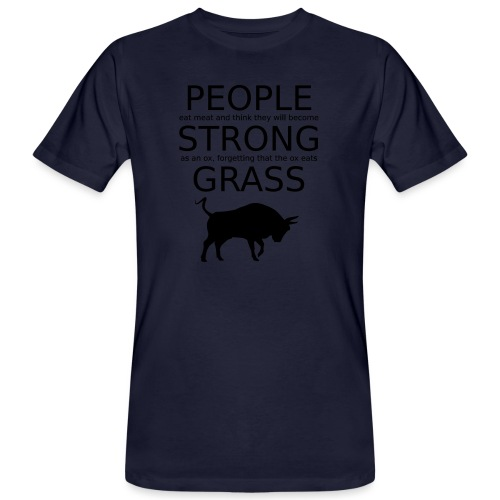 Strong People are Vegan - Männer Bio-T-Shirt