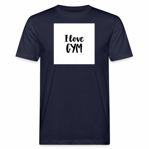 I love gym - Ekologisk T-shirt herr