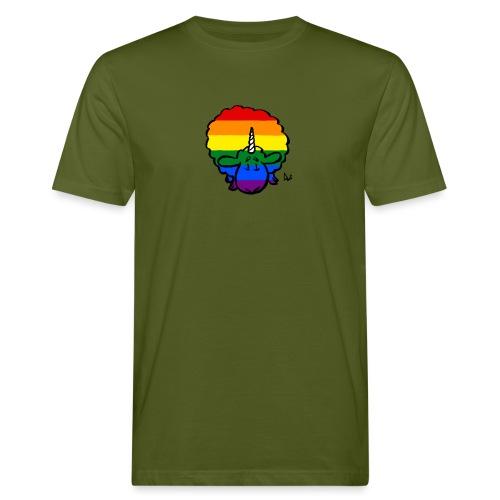 Rainbow Ewenicorn - det er en enhjørning sau! - Økologisk T-skjorte for menn