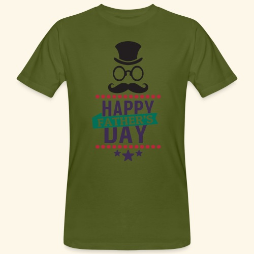 Happy Fathers Day Quote Image - Men's Organic T-Shirt