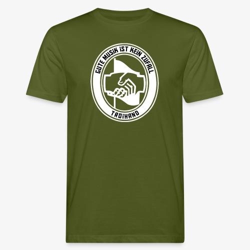 Logo Troihand invertiert - Männer Bio-T-Shirt