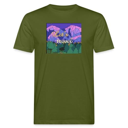 Lets Travel T-Shirt - Männer Bio-T-Shirt