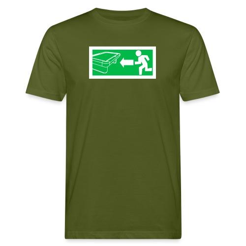 "Billard Shirt ""Notausgang Billard"" - Pool Billard - Männer Bio-T-Shirt"