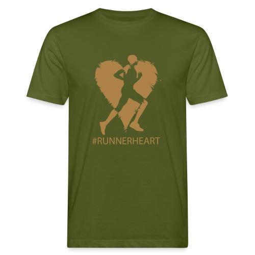 #Runnerheart man - Männer Bio-T-Shirt