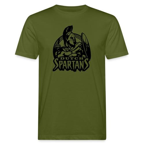 Dutch Spartans Logo Black - Mannen Bio-T-shirt