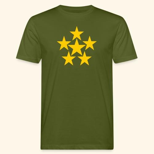 5 STERN gelb - Männer Bio-T-Shirt