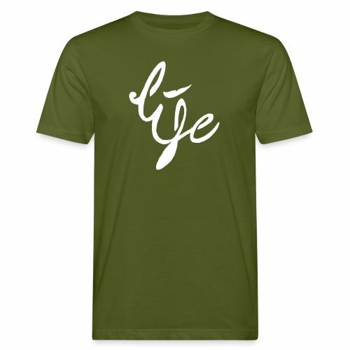 Life Logo simple white - T-shirt bio Homme