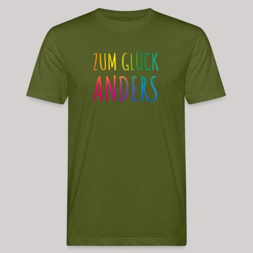 Zum Glück anders - Männer Bio-T-Shirt