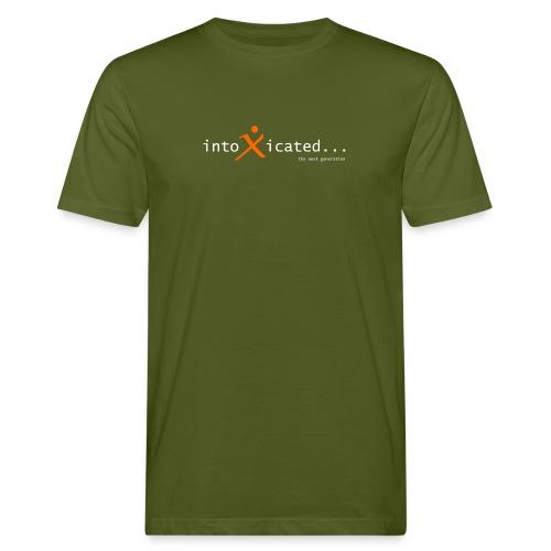 intoxicated schriftzug schwarz vektorgra - Männer Bio-T-Shirt