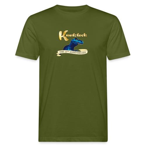 KnutstockAnniversaryBanner Thyranathaurus - Männer Bio-T-Shirt