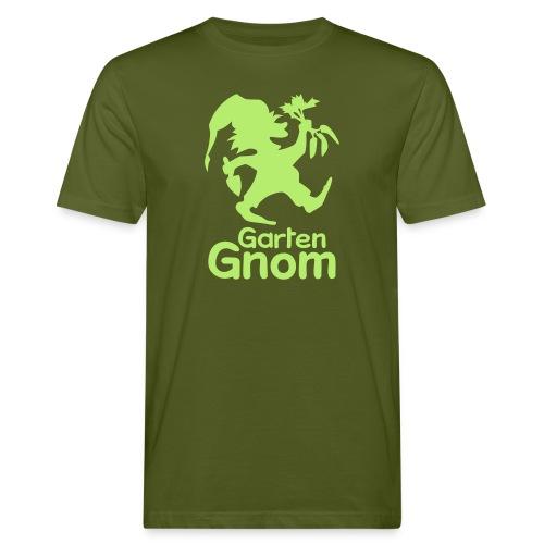 GartenGnom Logo Hochformat - Männer Bio-T-Shirt