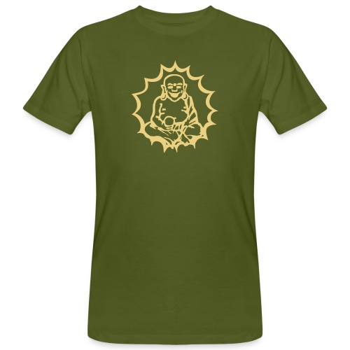 Happy Buddha - Männer Bio-T-Shirt