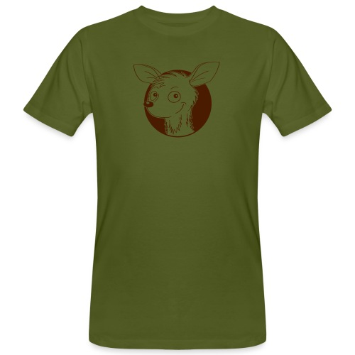 raffiniertes Reh - Männer Bio-T-Shirt