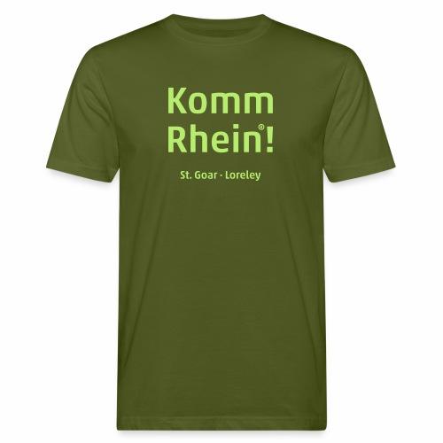 Komm Rhein! St. Goar · Loreley - Männer Bio-T-Shirt