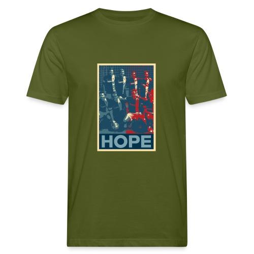 hopelogoteam jpg - Männer Bio-T-Shirt
