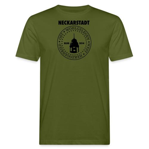 Neckarstadt Blog seit 2014 (Logo dunkel) - Männer Bio-T-Shirt