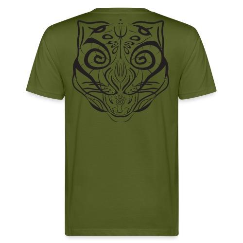 The Parvati Cat by Stringhedelic - Black - Men's Organic T-Shirt