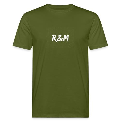 R&M Large Logo tshirt black - Men's Organic T-Shirt