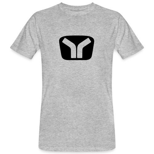 Yugo Logo Black-Transparent Design - Men's Organic T-Shirt