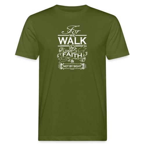 walk white - Men's Organic T-Shirt