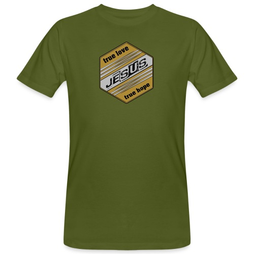 jesus 6eck - Männer Bio-T-Shirt