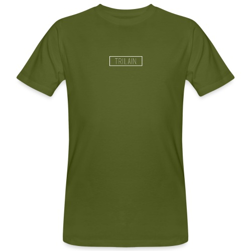 Trilain - Box Logo T - Shirt Black - Mannen Bio-T-shirt