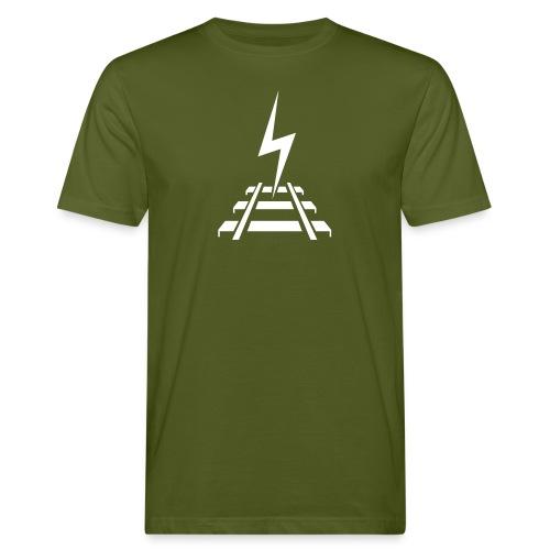 Logo Bahnstromer v9 6 2 - Männer Bio-T-Shirt