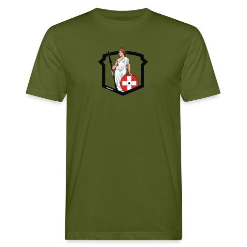 Helvetic Weightlifting Girl - Männer Bio-T-Shirt