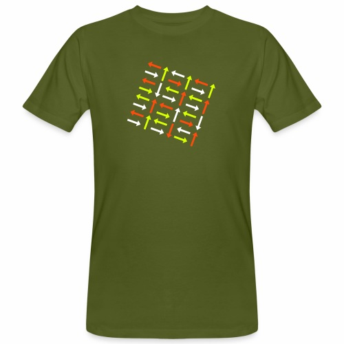 Pfeile bunt - Männer Bio-T-Shirt