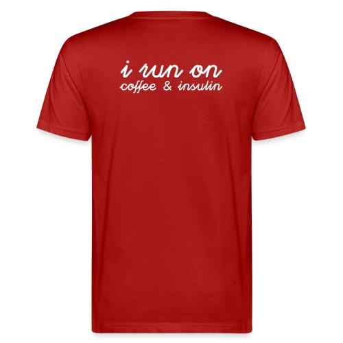 I run on coffee & insulin v4 TAKA - Miesten luonnonmukainen t-paita