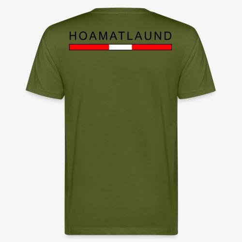 Hoamat mit österreich flagge - Männer Bio-T-Shirt