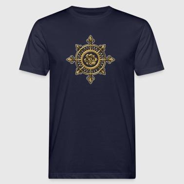 Wind rose, compass, Fleur de Lys, sailing, sailor - Ekologiczna koszulka męska