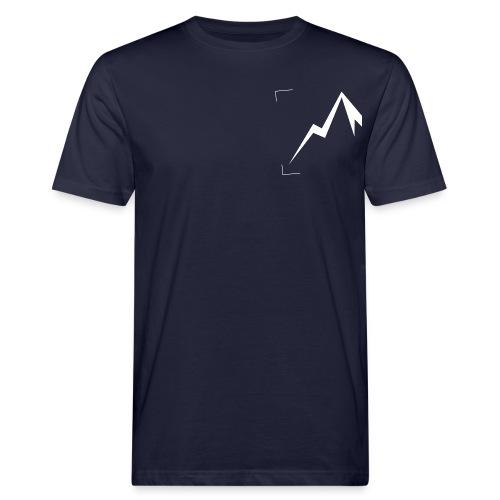 Expedition Marke Logo Ausschnitt, medium, white - Männer Bio-T-Shirt