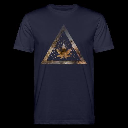 Galaxy Weed Marijuana Triangle with Splashes - Männer Bio-T-Shirt