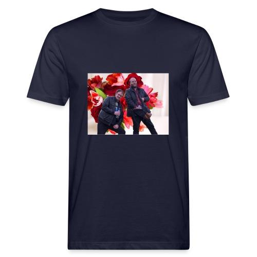 En rose og en tulipan - Økologisk T-skjorte for menn