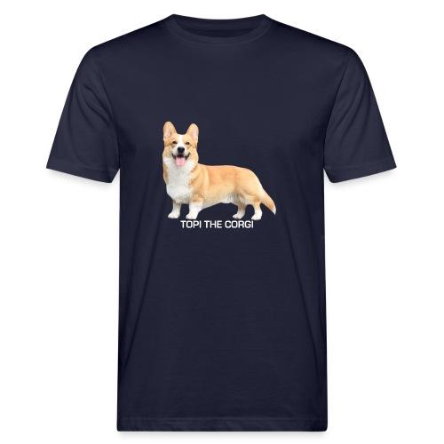 Topi the Corgi - White text - Men's Organic T-Shirt