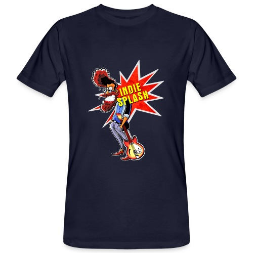 Indie Splash - Männer Bio-T-Shirt