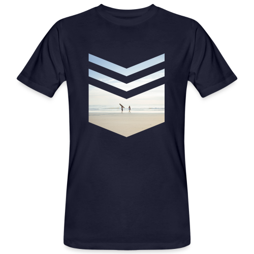 Surf Beach Triangle - Männer Bio-T-Shirt