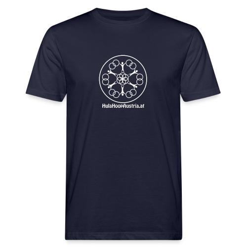 Hula Hoop Austria Logo White - Männer Bio-T-Shirt