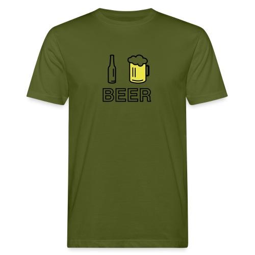 I Love Beer (2-farbig) - Männer Bio-T-Shirt