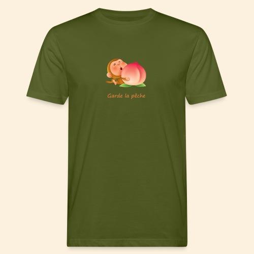 Singe Garde la pêche - T-shirt bio Homme