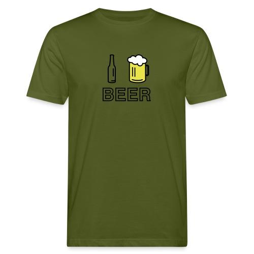 I Love Beer (3-farbig) - Männer Bio-T-Shirt